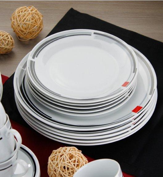WYPRZEDAŻ! FLIRT CARMEN Komplet 6 talerzy deserowych / Porcelana