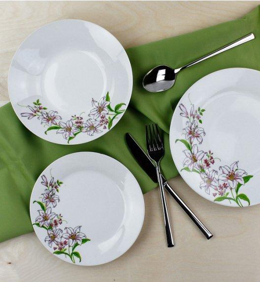 WYPRZEDAŻ! ALPENBURG Serwis obiadowy 6 osób / 18 elementów / porcelana