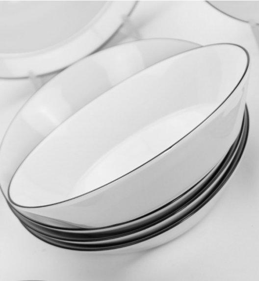 WYPRZEDAŻ! KAROLINA TRENDY BLACK CIRCLE Komplet 5 talerzy głebokich / Porcelana