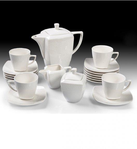 WYPRZEDAŻ! WAZA WA-98 BIAŁA KORONKA Serwis kawowy 23 elementy dla 10 osób / Porcelana / Karolina Hiruni