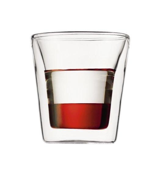 BODUM CANTEEN Komplet 2 szklanek 0,1 l / podwójne ścianki / Btrzy