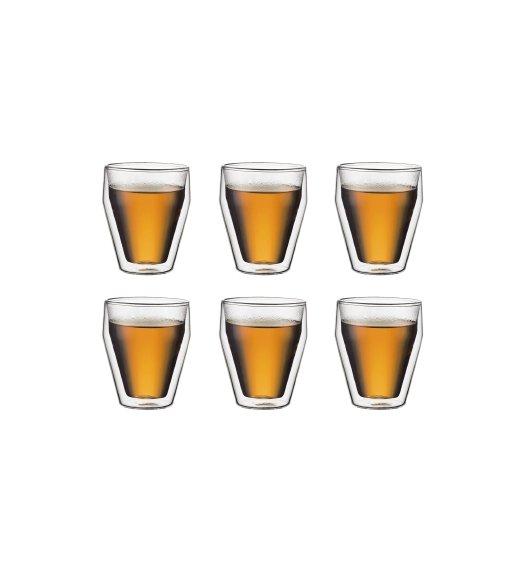 BODUM TITLIS Komplet 6 szklanek 0,25 l / podwójne ścianki / Btrzy