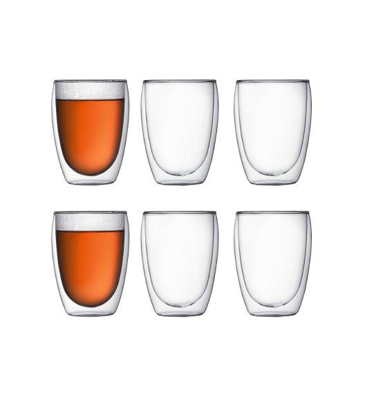 BODUM PAVINA Komplet 6 szklanek 0,35 l / podwójne ścianki / Btrzy