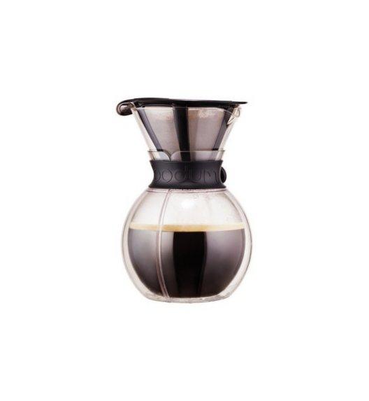 BODUM POUR OVER Dzbanek / zaparzacz do kawy 1,0 l / czarny / szkło / Btrzy