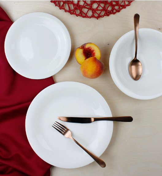 KAROLINA SOFT-FBC Serwis obiadowy 36 elementów / 12 osób / porcelana