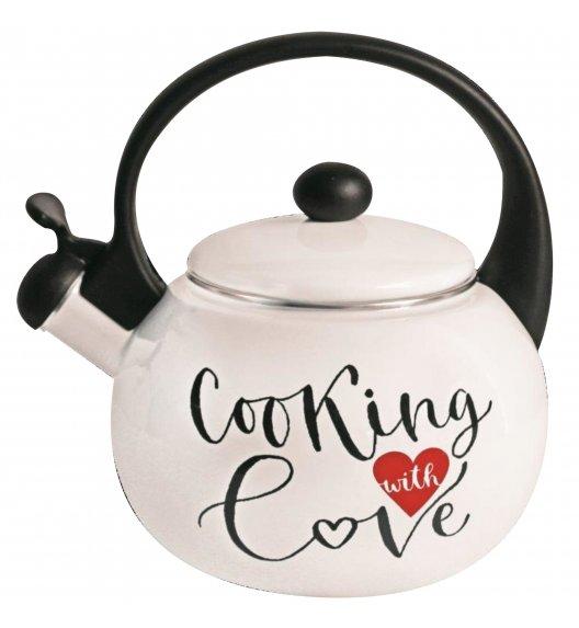 TADAR COOKING LOVE Czajnik emaliowany z gwizdkiem 2,3 L / indukcja