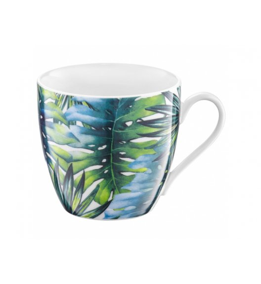 AMBITION TROPICAL Kubek 510 ml / liście / porcelana / 40068
