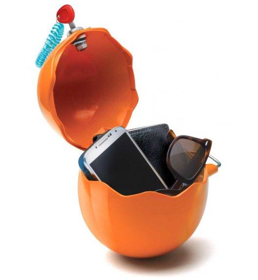 MELICONI GUSCIOBOX Uniwersalny pojemnik na drobiazgi zamykany na klucz / pomarańczowy