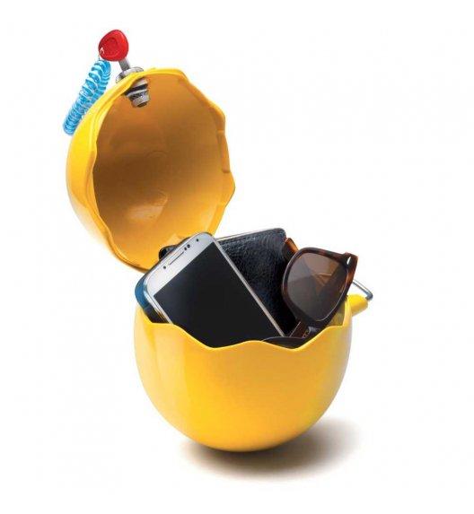 MELICONI GUSCIOBOX Uniwersalny pojemnik na drobiazgi zamykany na klucz / żółty