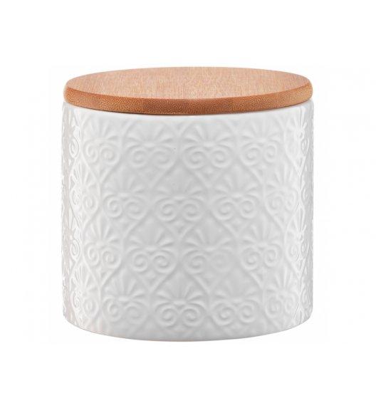 AMBITION TUVO Pojemnik z bambusową pokrywką 670 ml / mozaika / biały / ceramika