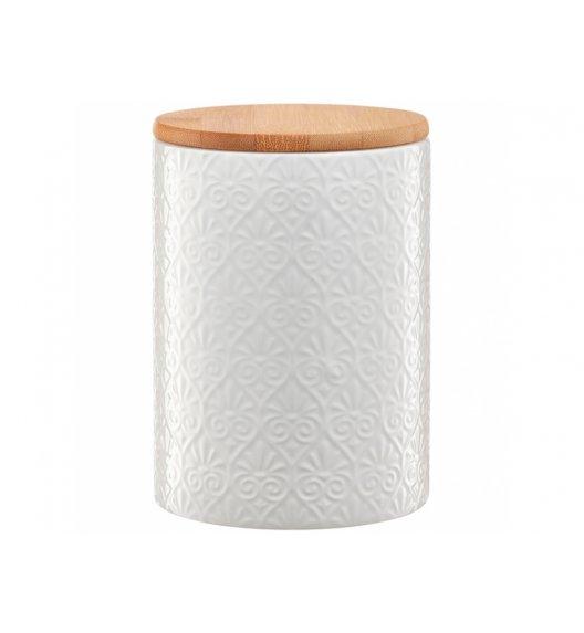AMBITION TUVO Pojemnik z bambusową pokrywką 1,1 l / mozaika / biały / ceramika