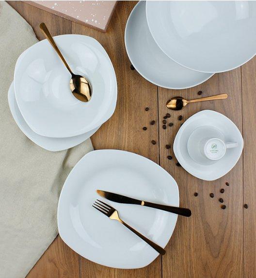 LUBIANA ELEGANCE Serwis obiadowo - kawowy 62 el / 12 osób / porcelana