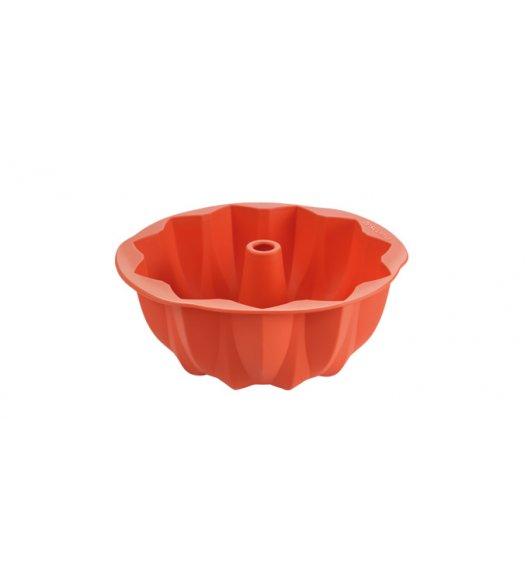 TESCOMA DELICIA Forma na babkę Ø24 cm / pomarańczowa / rozeta / silikon