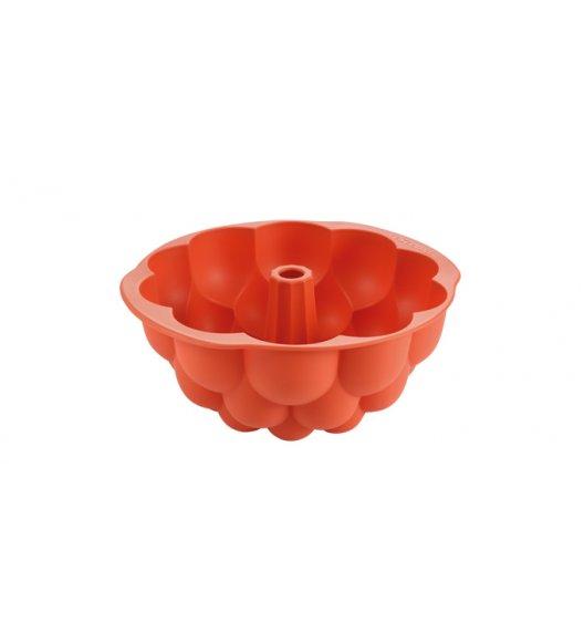 TESCOMA DELICIA Wysoka forma na babkę Ø24 cm / pomarańczowa / malina / silikon