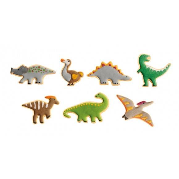 TESCOMA DELICIA KIDS Wykrawacze dinozaury / 7 szt. / tworzywo sztuczne