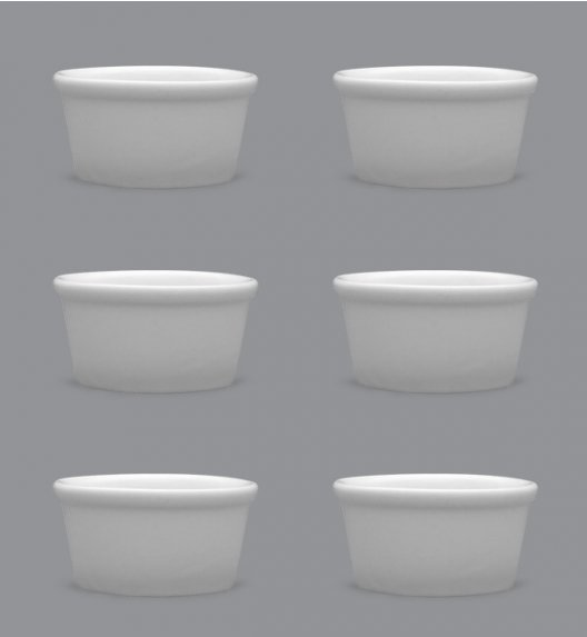 LUBIANA AMERYKA Komplet Czarki degustacyjne / na przystawki 100 ml / 18szt./ porcelana