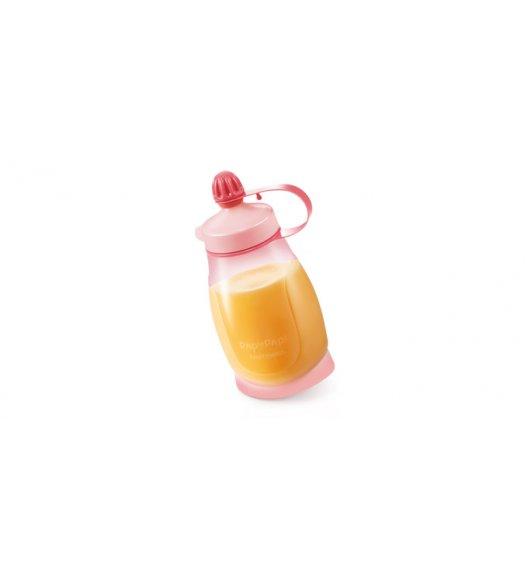 TESCOMA PAPU PAPI Elastyczna butelka z łyżeczką 200ml 8 x 5 x 14,5cm różowa