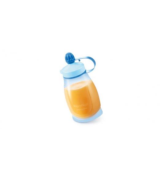 TESCOMA PAPU PAPI Elastyczna butelka z łyżeczką 200ml 8 x 5 x 14,5cm niebieska