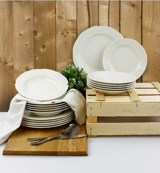 KAROLINA ALBA Serwis obiadowy 18 elementów dla 6 osób / porcelana