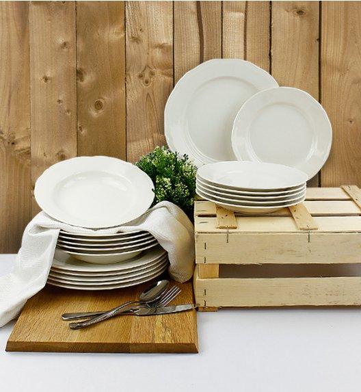 KAROLINA ALBA Serwis obiadowy 54 elementy dla 18 osób / porcelana