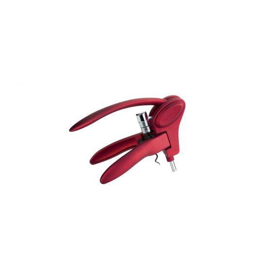 TESCOMA UNO VINO Korkociąg z dźwignią 20cm czerwony/ powłoka antyadhezyjna