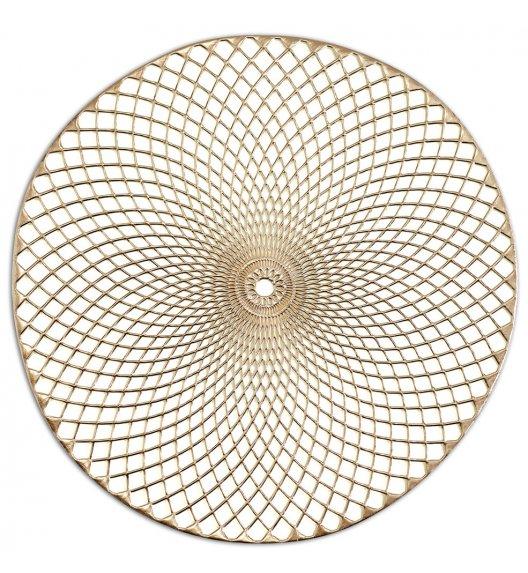 WYPRZEDAŻ! ZELLER MANDALA Podkładka okrągła na stół Ø38 cm złota / PVC