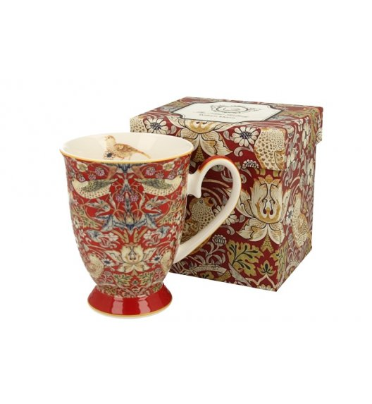 WYPRZEDAŻ! DUO RED Kubek na stopce 325 ml / inspirowany dziełami Williama Moriss'a / porcelana