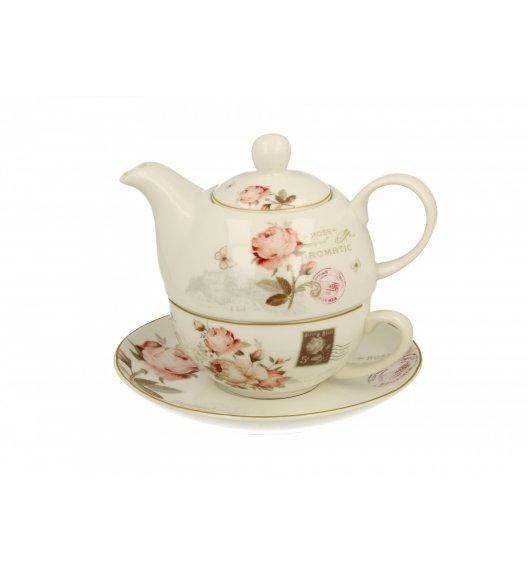 DUO SECESJA Filiżanka z dzbankiem i spodkiem Tea for One/ Porcelana
