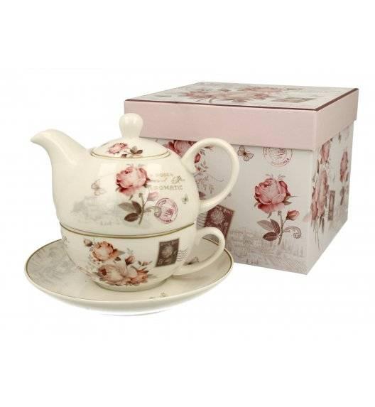 DUO SECESJA Filiżanka z dzbankiem i spodkiem Tea for One / Porcelana