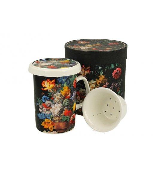 DUO BUKIET Kubek z zaparzaczem 320 ml/ Porcelana
