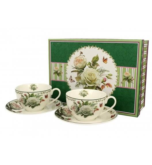 DUO EDITH Komplet 2 filiżanek ze spodkami 250 ml / porcelana