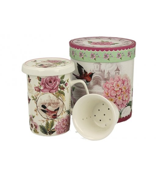 DUO LOVE Kubek z zaparzaczem 320 ml / porcelana