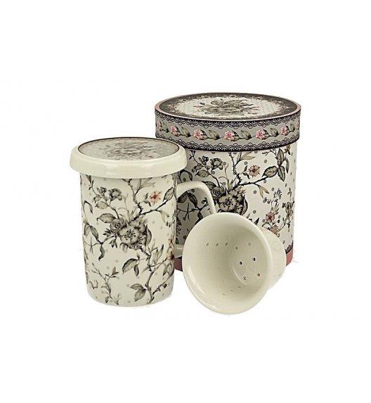 DUO MAYA Kubek z zaparzaczem 320 ml / porcelana