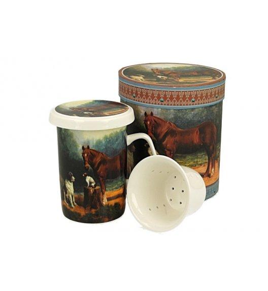 DUO STELLA Kubek z zaparzaczem 320 ml / porcelana
