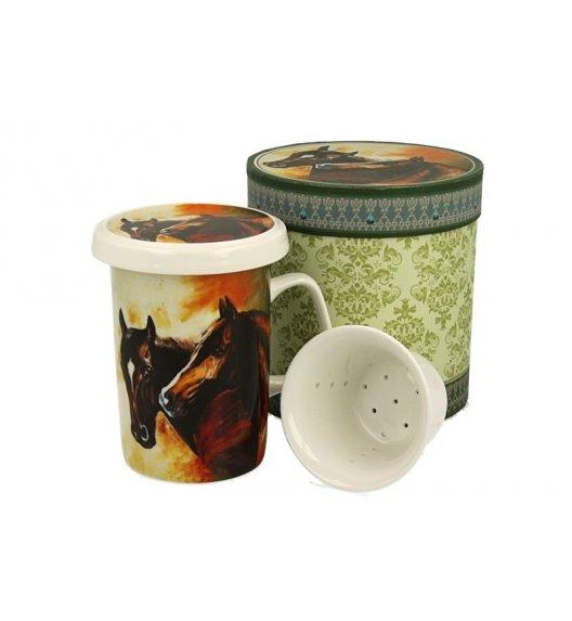 DUO FELIX Kubek z zaparzaczem 320 ml / porcelana