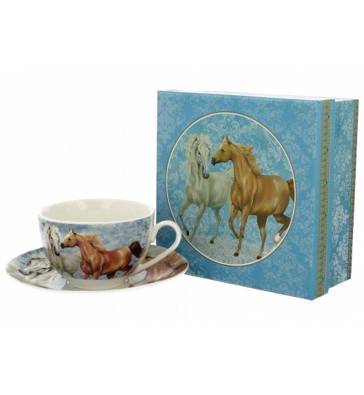 DUO HORSES Filiżanka ze spodkiem 250 ml / porcelana