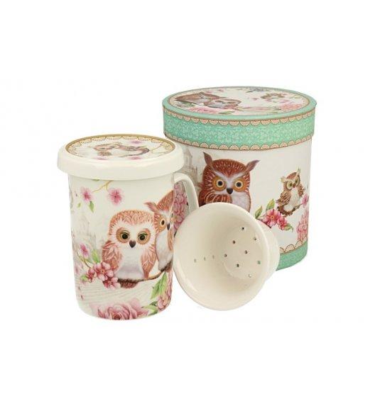 DUO OWLS Kubek z zaparzaczem 320 ml / porcelana