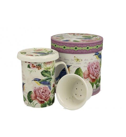 DUO LUNA Kubek z zaparzaczem 320 ml/ Porcelana