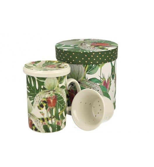 DUO ORCHIDEA Kubek z zaparzaczem 320 ml/ Porcelana