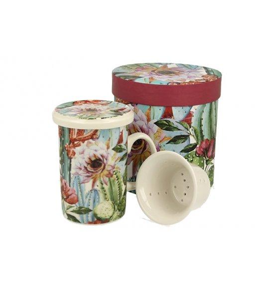 DUO TROPICAL Kubek z zaparzaczem 320 ml/ Porcelana
