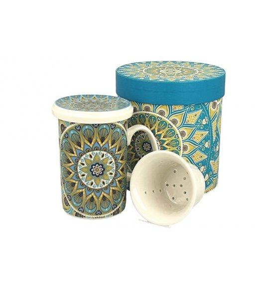 DUO TRIBAL Kubek z zaparzaczem 320 ml/ Porcelana