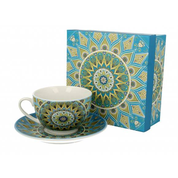 DUO TRIBAL Filiżanka ze spodkiem 250 ml / porcelana