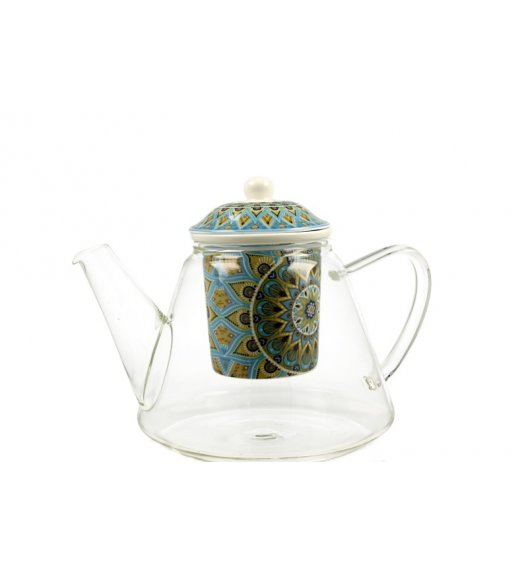 DUO TRIBAL Dzbanek szklany z zaparzaczem 1,2 l / Porcelana