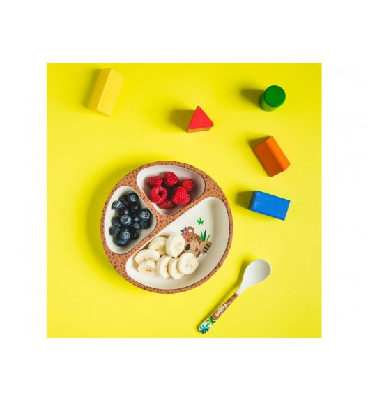 AMBITION MIMI JUNIOR Zestaw naczyń bambusowych dla dzieci/ 3 elementy