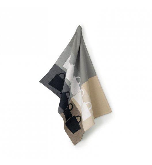 WYPRZEDAŻ! KELA TABEA CUPS Ściereczka kuchenna 70 x 50 cm / szaro - beżowa / FreeForm