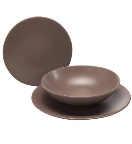 WYPRZEDAŻ! TADAR EGE Talerz deserowy 20 cm luzem / brązowy / ceramika