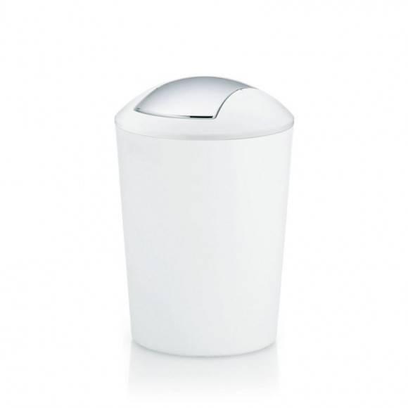 WYPRZEDAŻ! KELA Łazienkowy kosz na śmieci MARTA biały 5,0 l / FreeForm