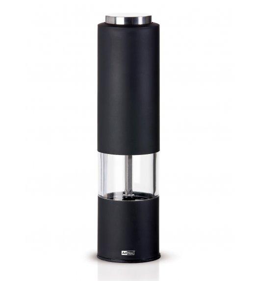 ADHOC TROPICA BLACK Młynek elektryczny do pieprzu lub soli / czarny / stal nierdzewna / LENA