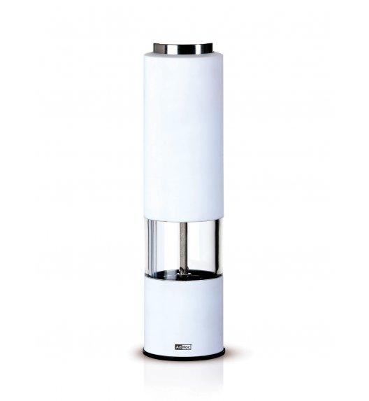 ADHOC TROPICA WHITE Młynek elektryczny do pieprzu lub soli / biały / stal nierdzewna / LENA