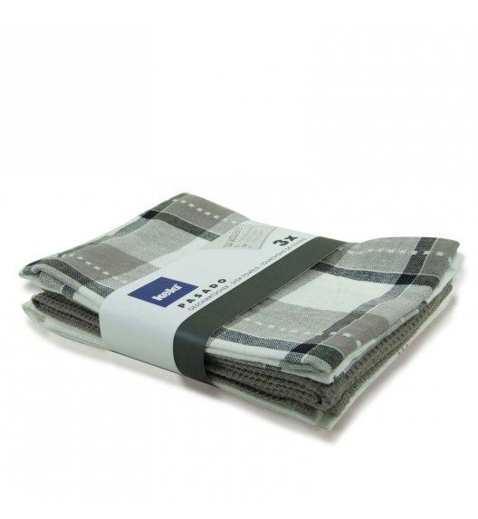 WYPRZEDAŻ! KELA Zestaw 3 ściereczek bawełnianych PASADO 65 x 45 cm, szare / FreeForm
